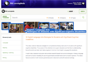 screen shot of website providing videos of instruction on the Iowa Public Television website